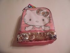 HELLO KITTY SANRIO Girls Lead-Free Dual-Chamber Sequin Lunch Tote Box Kit NWT