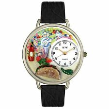 Whimsical Watches U0310015 Taco Lover Genuine Leather Strap BLACK BRAND NEW!!