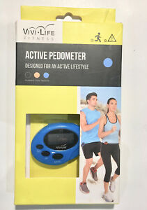 VIVI-LIFE ACTIVE PEDOMETER DESIGNED FOR AN ACTIVE LIFESTYLE NEW NIB