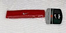 Nike Swoosh Headband Brand NIP Red with Gray Swoosh Adult Size Unisex New