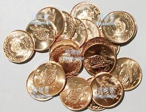 Tokelau 1 Cent 2017 animal Sea Turtle 19mm Copper Steel Coin UNC Coins lot 20PCS