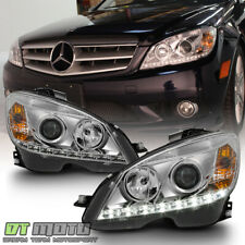 2008-2011 Mercedes Benz C-Class W204 C300 C350 C63 LED DRL Projector Headlights