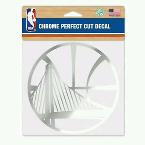 """GOLDEN STATE WARRIORS PERFECT CUT CHROME DECAL 6""""X6"""" SHEET NBA LICENSED"""