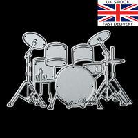 cute Drum Kit metal cutting die cutter UK Seller Fast shipping