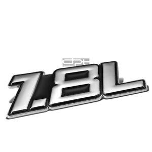 METAL BUMPER BODY GRILL FENDER EMBLEM DECAL LOGO BADGE CHROME BLACK 1.8 1.8L