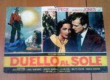 DUELLO AL SOLE fotobusta poster Duel in the Sun Gregory Peck Western 1948