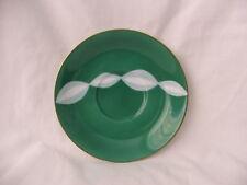 Retro Noritake Teacup Saucer Only!! ~ Funky Green & White Swirls ~ Japan 1951