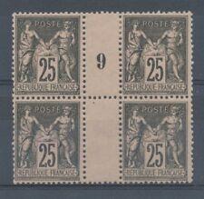 MILLESIME 9 sur Bloc de 4 N°97, 3 NEUFS LUXE ** et 1 NEUF*, TB COTE 750€ P1482