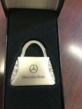 New Mercedes Benz Purse Keychain With Cute Crystals! Nib Key Chain