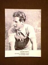 Il ciclismo in Italia negli anni '30 Il ciclista Aldo Bini
