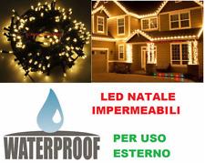 Luci Natalizie LED ORO uso esterno pioggia,luce dorata,albero Natale. SERIE