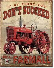 IHC Farmall tractor estados unidos vintage retro Design escudo de metal