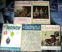 INSTRUCTOR MAGAZINE Lot #1 - 5 Backissues from 1946-1957 educational reference