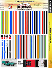 MG3104 - 1/64 HO UltraCal High Def Decals Racing Stripes