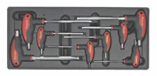 SEALEY TOOLS HEX ALLEN KEY SET WITH T-HANDLE 2mm - 10mm + TOOL STORAGE TRAY