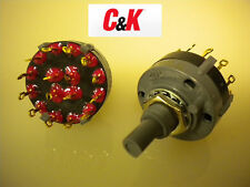 5 PCS Rotary Switch C&K PN# A403 Hardware Included New!