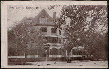 EASTON MD Hotel Norris Vintage B&W Town View Old Postcard Early Maryland PC