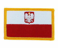 FLAG PATCH PATCHES poland polska polish eagle   IRON ON EMBROIDERED SMALL