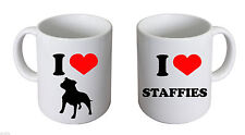 I Love Staffordshire Bull Terriers  Mug Staffie Owners Mug XCMN013