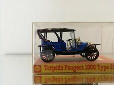 MINIALUXE 1:43 TORPEDO PEUGEOT 1906 TYPE 81B IN SHELL BOX IN BLUE
