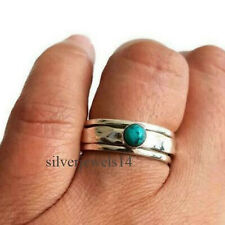 Turquoise 925 Sterling Silver Spinner Ring Meditation Statement Ring Fine ss_11