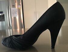 ROCKET DOG HIGH Heel Pumps Black Fabric Upper  Size 8.5M - Retro Gems