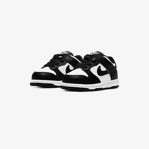 New Toddler Nike Dunk Low Retro White Black Sz 4c-9c CW1589-100