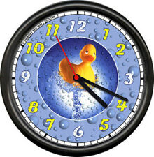 Bubbles Rubber Ducky Bathroom Duck Sign Wall Clock #691