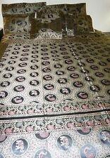 Handmade Designer Brocade Royal Elephant Peacock Bedspread Coverlet Set  90x108