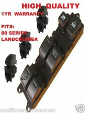 Main Window Switch & 3 Single Switches for Toyota Landcruiser 80 Series SET OF 4