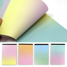 61sheets Beautiful Rainbow Aurora Letter Lined Writing Stationery Paper Pad