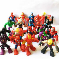 Random 5pcs Playskool Marvel Super Hero Adventures 2.5'' SPIDER-MAN Hulk Figures