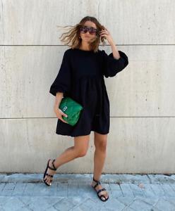 ZARA AW19 Comfy Puff Voluminous Sleeve Loose Fit Mini Dress M BNWT 5580/804