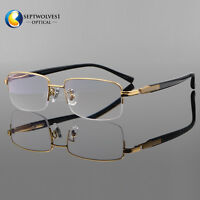 ff30d7787cd Titanium Men s Half Rimless Eyeglasses Frame Optical Lens Reader +0.00 to  +5.00