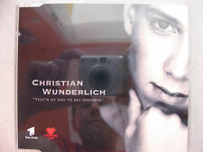 CD - Christian Wunderlich - That's my way to say goodbye