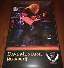 Dave Mustaine Signed Poster Megadeth Dean Guitars