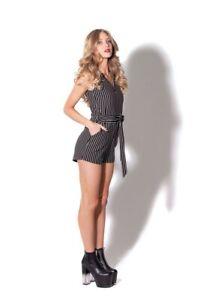 Black Milk Striped Playsuit (L) BNWT