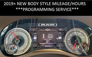 2020 RAM NEW BODY SPEEDOMETER INSTRUMENT CLUSTER PANEL MILEAGE PROGRAMMING