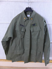 US ARMY VIET NAM Feldjacke coat mans cotton rip-stop LARGE mit Patches