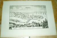 Wasserburg alte Ansicht Merian Druck Bannstaedte 1940 Bayern Städteansicht