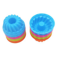 Lot of 12, Silicone Cake Mold Fondant Jelly Mould Baking Tool Multicolor