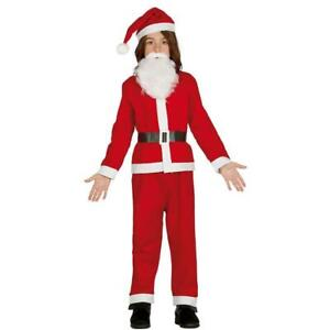 Boys Father Christmas Santa Claus Fancy Dress Costume