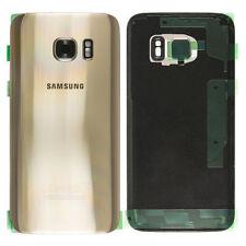 ✅ Samsung Galaxy S7 G930F Akkudeckel Deckel Back Cover GOLD mit Kleber