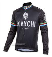 Bianchi Milano LEGGENDA Lightweight Long Sleeve Cycling Jersey : CLASSIC BLACK