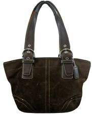 COACH Handbag Satchel Purse TOTE SHOULDER BAG BROWN Leather Medium 9522