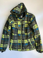 PULSE Yellow Plaid Waterproof  Insulated Hooded Snow JACKET Youth 16/18 Large