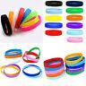Unisex Silicone Stretchy Sport Bracelet Cuff Wristband Bangle Rubber FashionGift