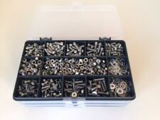 M4 en acier inoxydable Socket Allen Vis, écrous et Rondelles Assortiment Kit 670 pcs