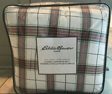Eddie Bauer Full/Queen Flannel Comforter Set In Riverdale Plaid