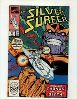 Silver Surfer, #34, FN+ 6.5, Thanos, Infinity Gauntlet/Infinity War/Endgame